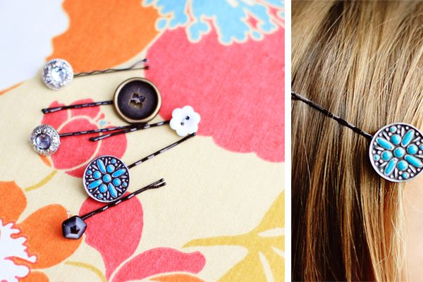 Cute decorative bobby pins are fun to wear but can get expensive! If you have a stash of buttons around, make these cute pins for next to nothing. Materials Needed: Bobby pins Buttons (If there are no buttons on hand use a Michaels coupon for 50% off and get a bag for just $1) Hot …