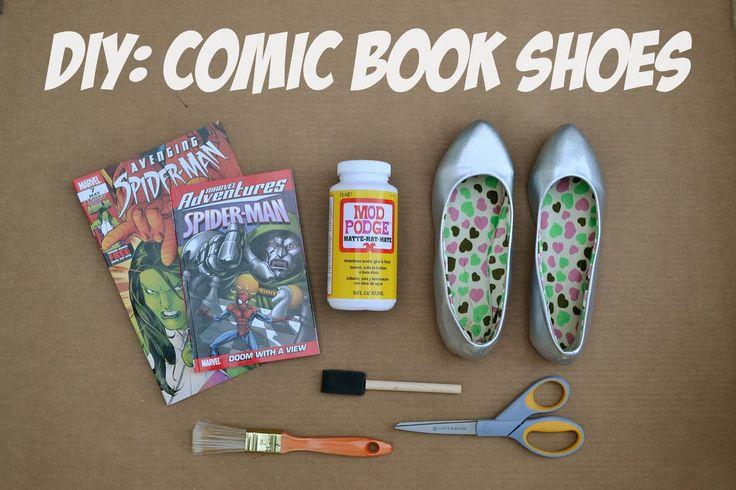 p.s.♡: diy: comic book shoes