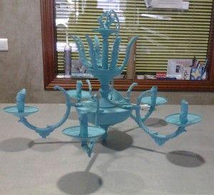lámpara de araña turquesa 1