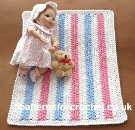 Free Knitting Patterns For Dolls Pram Blanket : Dolls Blanket by Patterns For Crochet Crochet Pattern Bonanza Pinterest ...