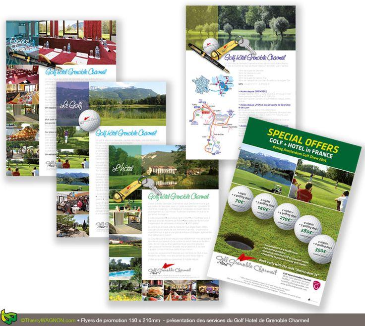 Création graphiques de flyers de promotion touristique d'un Golf Hotel Ressort
