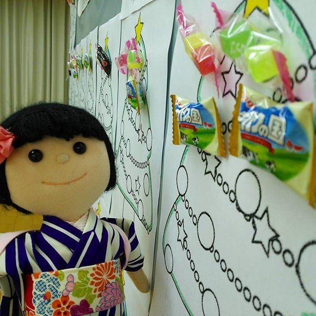 名古屋支部12月のコンクールは『クリスマスツリーを飾ろう🎄』。たくさん縫ってお菓子🍭をもらうぞ❗ #クリスマス #おやつ #お菓子 #東亜和裁 #東亜和裁名古屋支部#toawasai