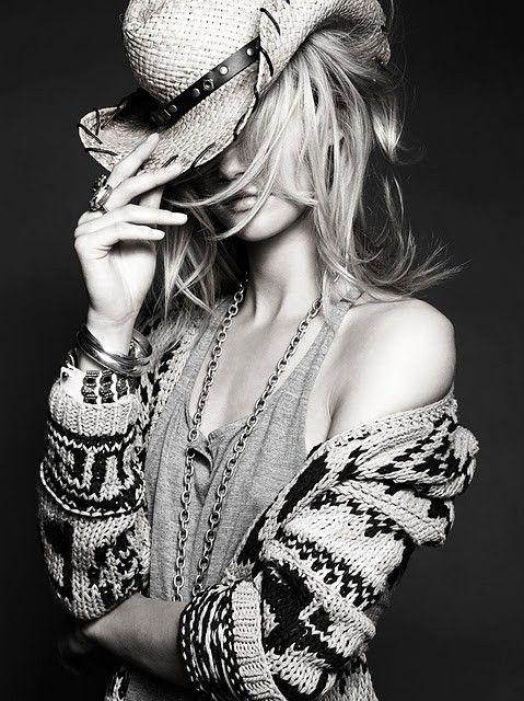 Sexy, cool, boho cowgirl