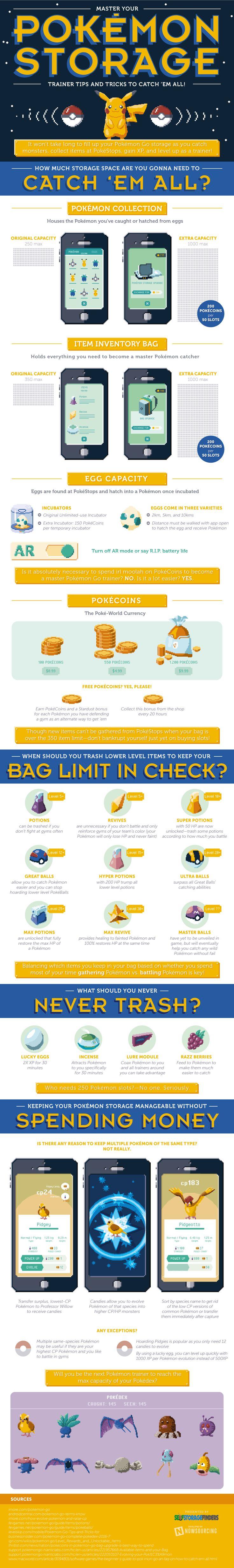 Pokemon Storage #Infographic #Pokemon