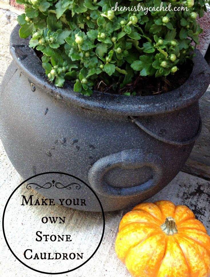 Everything looks so tired and dry after the LONG hot summer, it is so fun to fix it up with beautiful fall flowers and pumpkins. @chemistrycachet found  $0.97 cauldrons and decided to transform them into a planter! Check out just how easy it was with Rust-Oleum Multicolor Textured Spray Paint! http://www.rustoleum.com/product-catalog/consumer-brands/stops-rust/multicolor-textured/