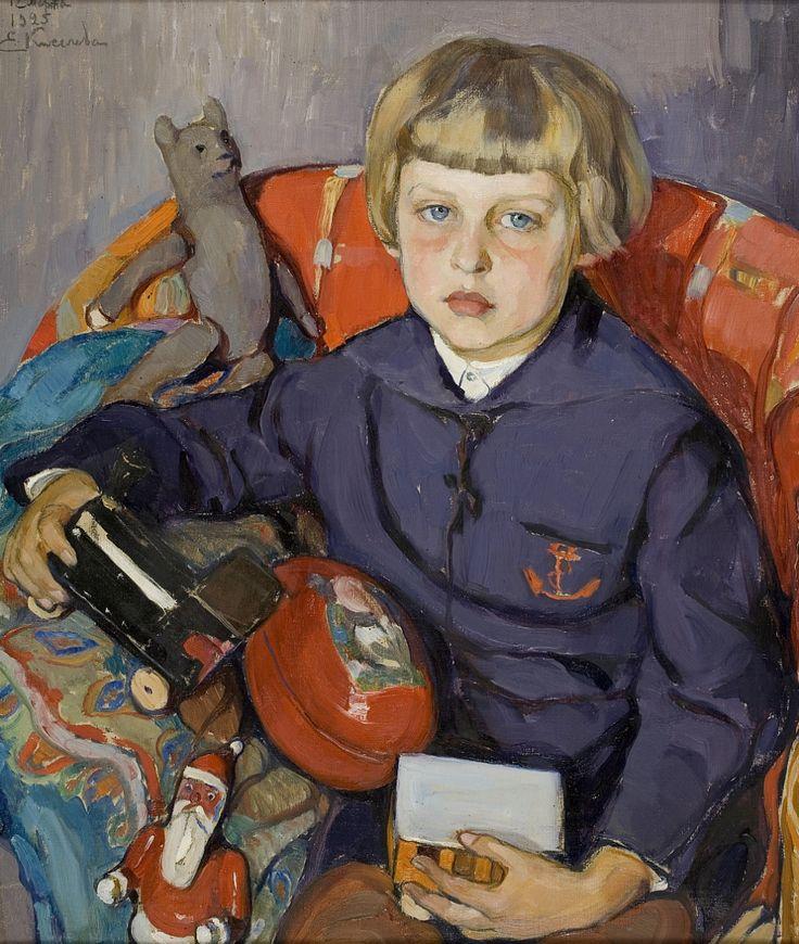 Елена Андреевна Киселева. Портрет сына. 1925 г.