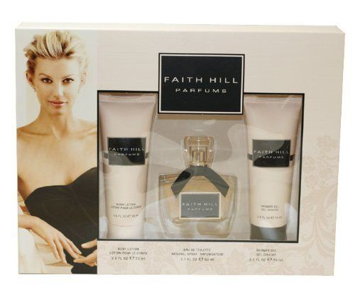 Faith Hill Parfums Gift Set for Women (Eau De Toilette Spray, Lotion, Shower Gel) by Faith Hill. Save 23 Off!. $34.64. All our fragrances are 100% originals by their original designers. We do not sell any knockoffs or immitations.. Packaging for this product may vary from that shown in the image above. We offer many great sales and discounts making this fragrance cheaper than at department stores.. 3 Pc. Gift Set ( Eau De Toilette Spray 1.7 Oz + Body Lotion 2.5 Oz + Shower Gel 2.5 ...