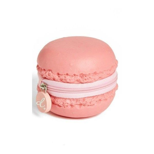 PIQ PRODUCTS Strawberry Macaron Coin Purse ❤ liked on Polyvore featuring bags, wallets, plastic coin case, change purse wallet, red coin purse, red bag and plastic bag