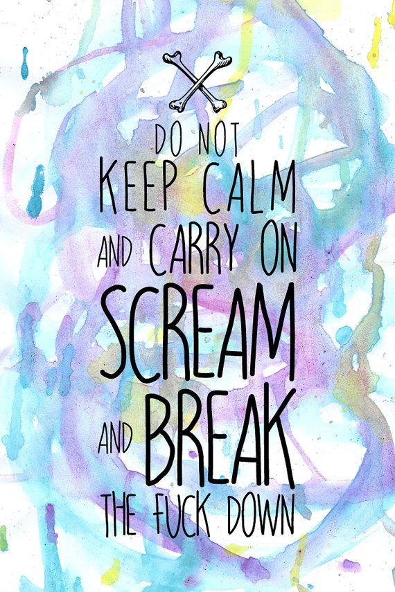 Keep Calm Carry On Inspirational Mature Art door SiouxTempesttArtist