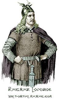 Ragnar Lodbrok (750 - 845) King of Denmark  37th GGF Love...the Viking show