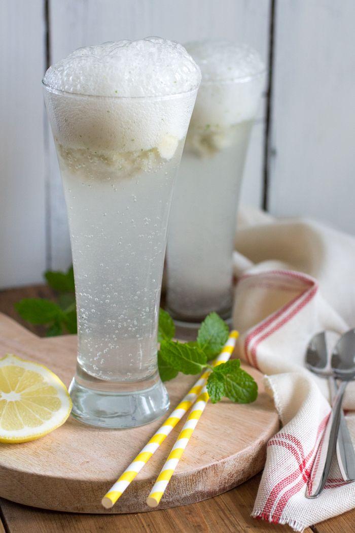 Spoom met citroen en munt