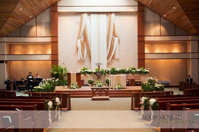 Decorating a church altar