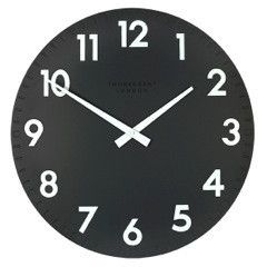 black and white wall clock easy to read