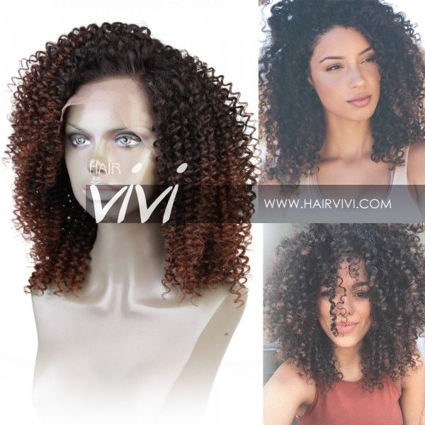 """KENDRA"" Ombre Curly Lace Frontal Wig 200% Density - Best Online Human Hair Wigs From Hairvivi.com"