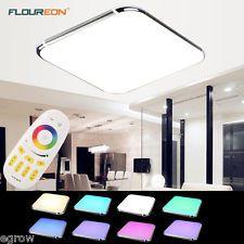 RGB Dimmbar Deckenleuchte LED mit F...