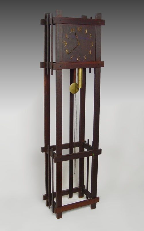 Arts And Crafts Period Grandfather Clock I Have This