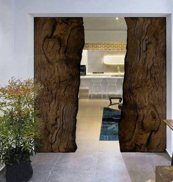 Hecho A Medida Para Evan Nueva Mesa Epoxi De Forma Etsy Rustic House Door Design Interior Barn Doors