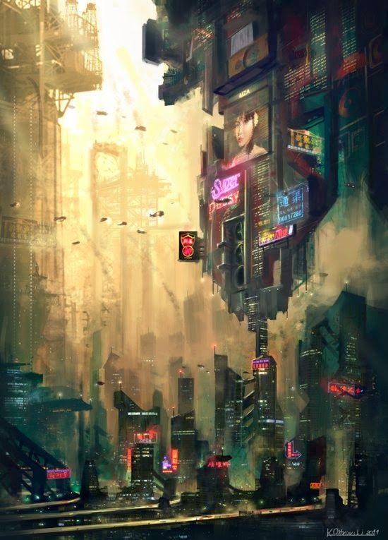 Fantasia e ficção científica nas ilustrações de cenários fantásticos de Chris Ostrowski