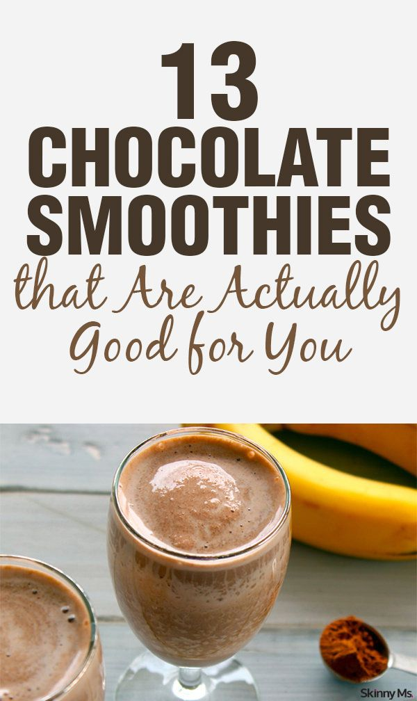 They taste so sinful--but we promise they are good for you! 13 Chocolate Smoothies, yum!