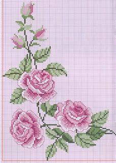 Ponto cruz: Flores Ponto Cruz