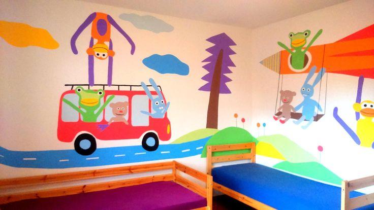 malba na zeď v pokojíčku