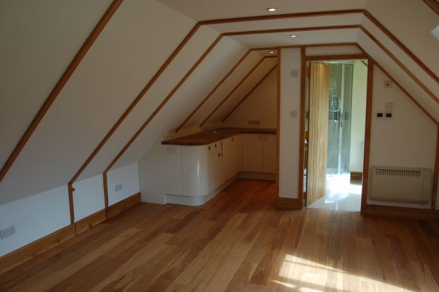 Guest accommodation above garage andrew page oak ltd for Garage with room above