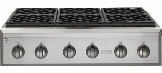 Zgu366npss Ge Monogram 36 Pro Style Gas Cooktop With 6 Burners