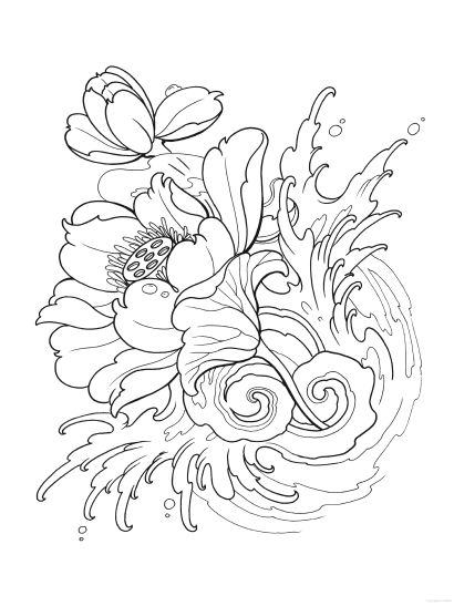 Creative Haven Modern Tattoo Designs Coloring Book ...