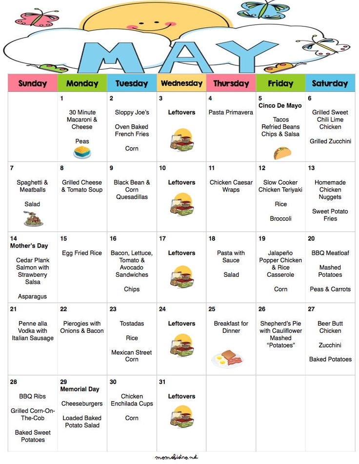 25+ best ideas about Monthly menu on Pinterest | Monthly ...