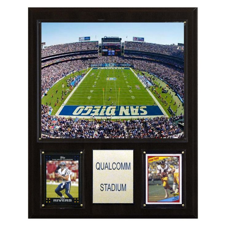 NFL 12 x 15 in. Qualcomm Stadium Plaque - 1215QUALC