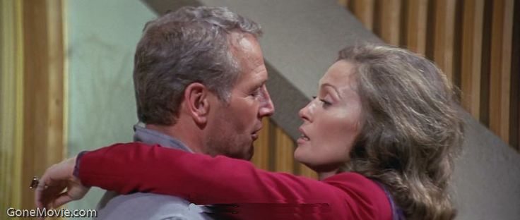 Paul Newman and Faye Dunaway in The Towering Inferno (1974)