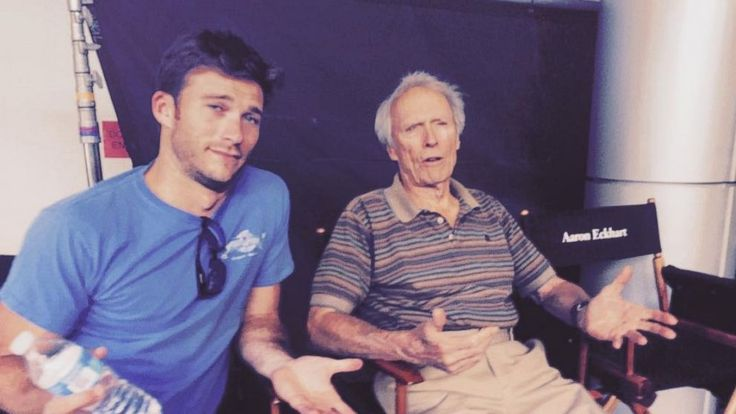 Hunk-a-lish-us! Scott Eastwood with his legendary father, Clint Eastwood