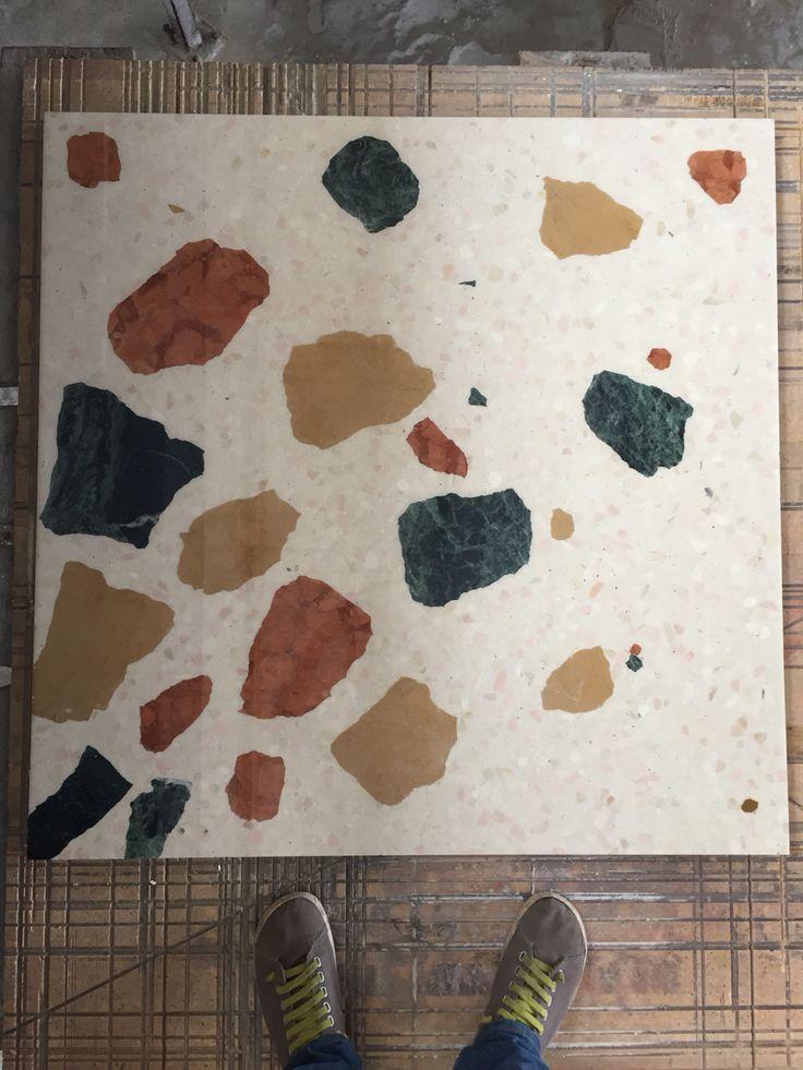 Custom #terrazzo #tile . 1x1 meter #slab