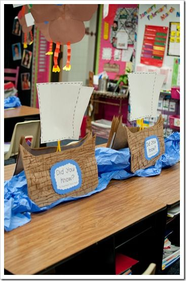 Saw these precious Mayflower boats on First Grade Parade and just had to do them with my Firsties! They LOVED them! This project is definitely making it onto my November calendar for next year!