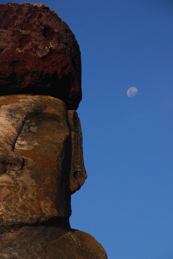 Moon and Moai, Easter Island