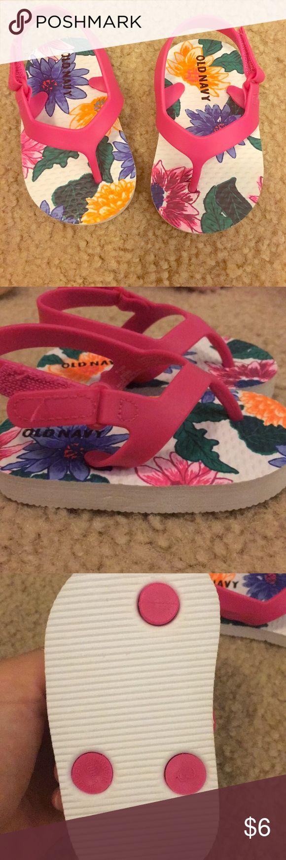 Brand new old navy flip flops! Brand new old navy flip flops! Never worn. Size 6-12 months. Velcro strap. Old Navy Shoes Sandals & Flip Flops