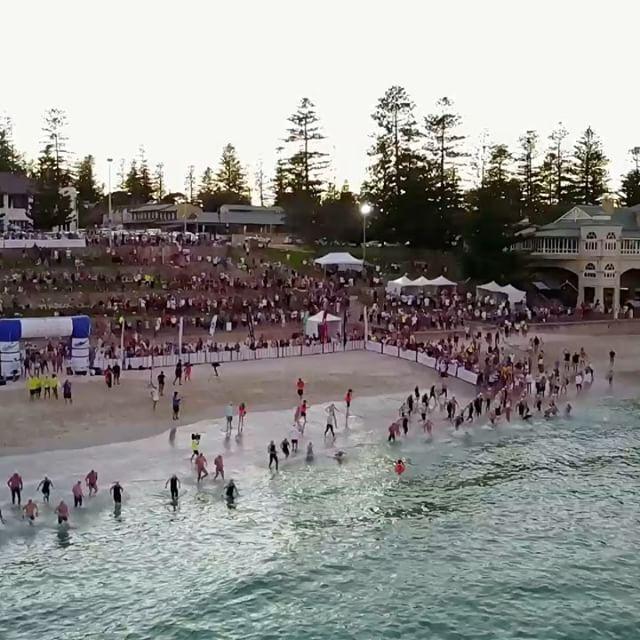 Finish line interview with Jarrod Poort, winner of the 2017 #KarmaResortsRottnestChannelSwim!! Congratulations on a fantastic swim! #ExperienceKarma #KarmaResorts #KarmaRottnest #RottoSwim #Perth #WesternAustralia #instagood  #Amazing #winning 🏊🏅🏆