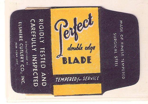 PERFECT vintage SAFETY RAZOR BLADE / lametta da barba / lame de rasoir