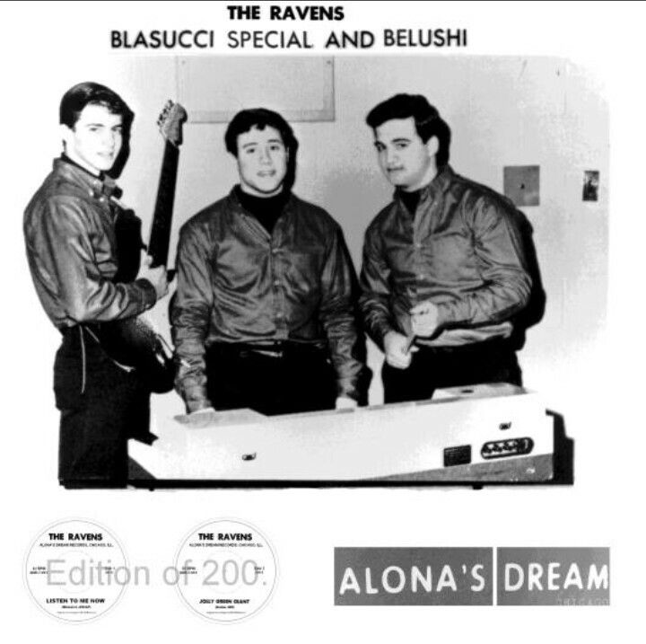 🎵'''💞.Obscure 45 By John Belushi's High School Band The Ravens Reissued Posted on January 20, 2012 by Brian The Ravens Chicago based Alona's Dream Records made their debut recently with a reissue of a 45 originally released in 1965 by The Ravens. Hailing from the Chicago suburb of Wheaton, !.😎.🎸.💞'''🎵 http://buytheserecords.com/chicago/obscure-45-by-john-belushis-high-school-band-the-ravens-reissued/