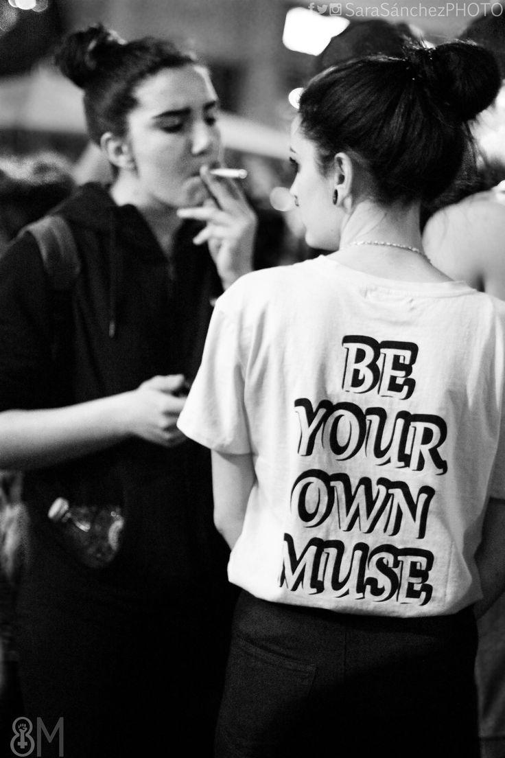 Sé tu propia musa.  #Fotografía #Manifestación #8deMarzo #DiadelaMujer en #Madrid