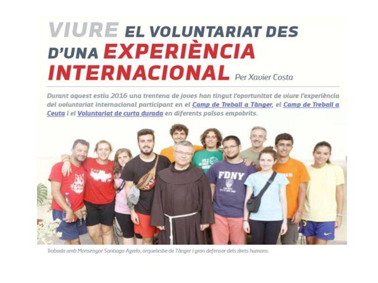 Els ex-alumnes Guillem Vilaregut i Xavi Collado han participat aquest estiu en un camp de treball organitzat per l'ONG -VOLS.
