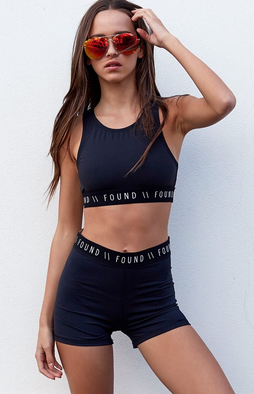 Found Basics Playoff Shorts Black