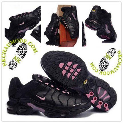 Mode | Nike Chaussure Sport Air Max Tn Requin Femme Noir Rose-3