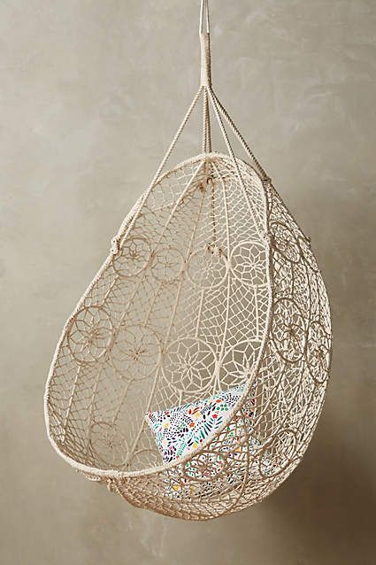 Knotted Melati Hanging Chair Macrame Hanging Baskets