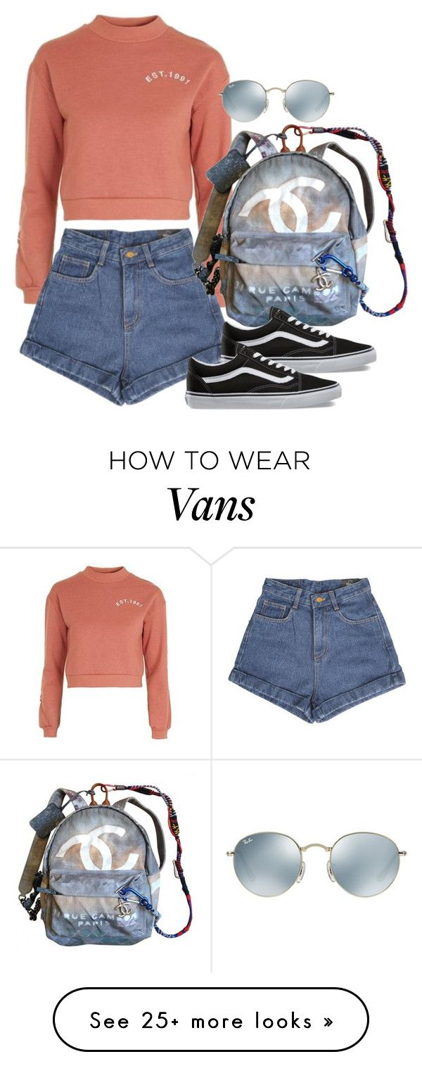 """Untitled #2561"" by camila-echi on Polyvore featuring Topshop, Chanel, Vans and Ray-Ban"