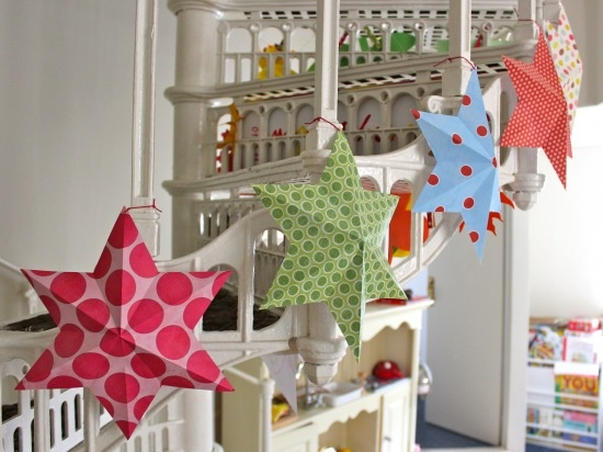 Delightful Paper Stars (tutorial) - beautiful way to decorate the house for Eid!