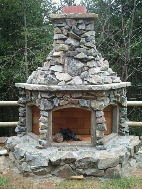 Outdoor Fireplace Design Ideas building outdoor fireplace Like The Way This Fireplace Has Three Openings Instead Of Just The One Putting