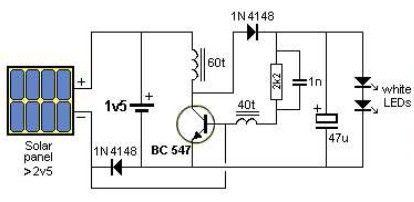 Solar Garden Light Circuit Diagram Electronics Circuit