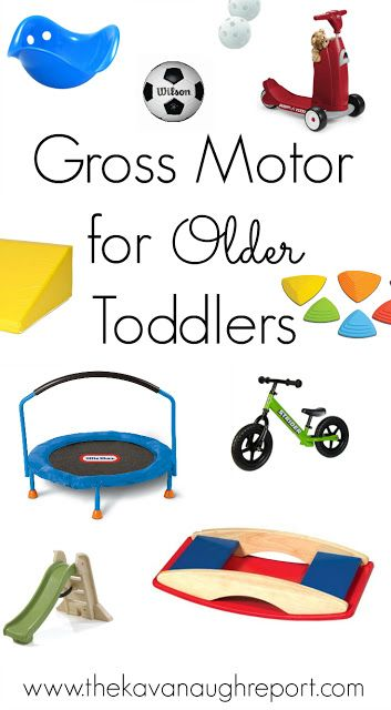 Gross Motor for Older Toddlers - some ideas and thoughts on how to entertain toddlers both indoor and outside.