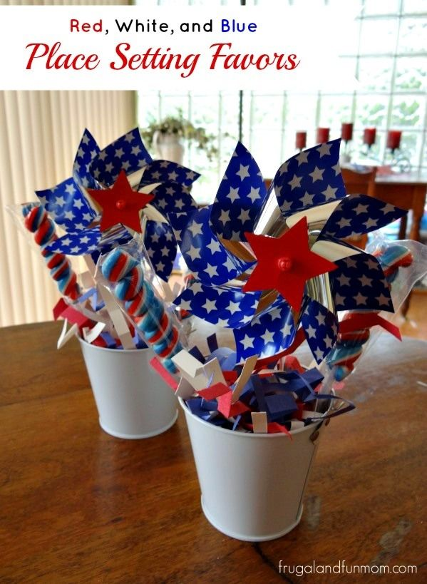 """Red, White, and Blue"" DIY Patriotic Decorating Favors! Created with #Homemade Confetti! #EASY #DIY #Patriotic #July4th #Decoration #Sponsored"